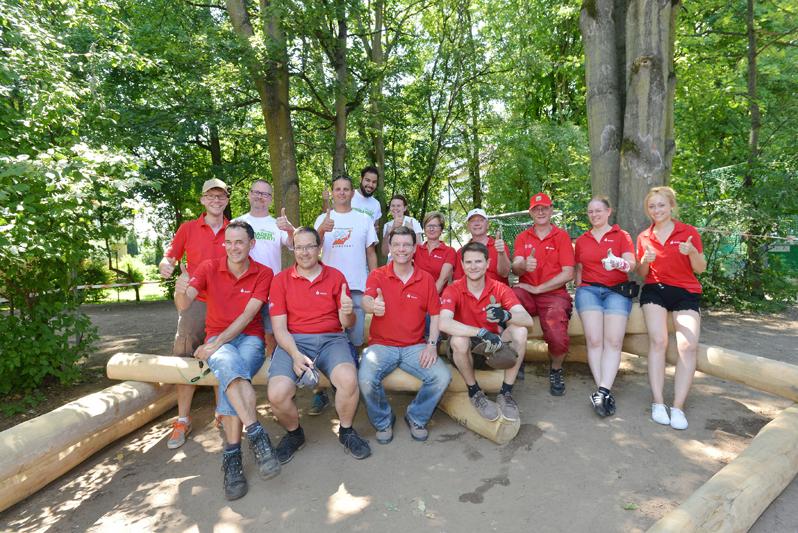 "009 Aktionswoche ""Wiesbaden Engagiert!"" 2017 Grundschule Bierstadt ASB Schülerbetreuung Naspa Foto: Sibylla Eisen"