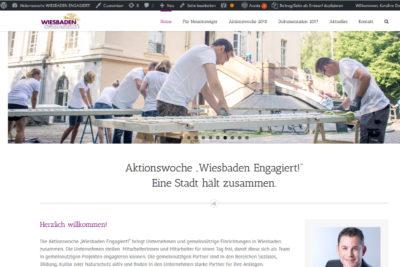 """030 Aktionswoche """"Wiesbaden Engagiert!"""" 2017 Fink & Fuchs AG CC-Servicebüro Eine Website für die Aktionswoche"""