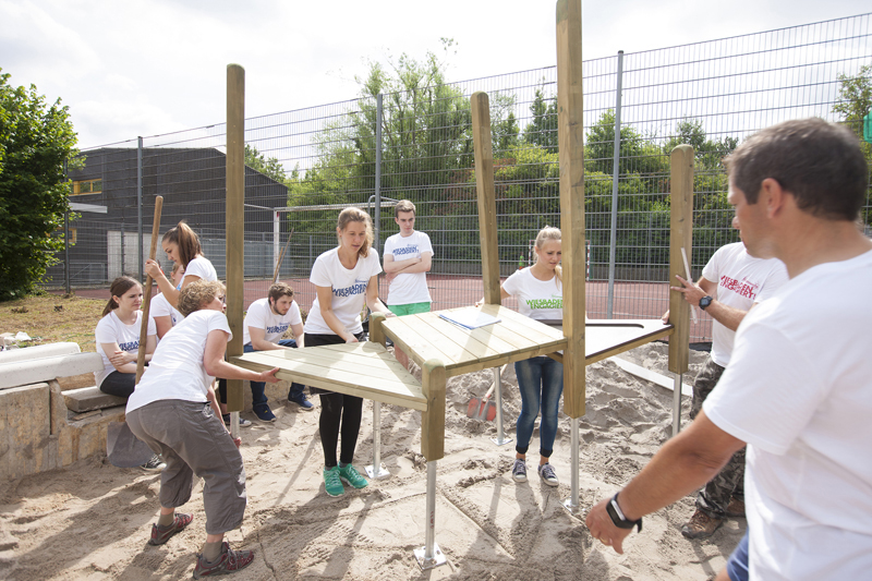 "056b Aktionswoche ""Wiesbaden Engagiert!"" 2017 Friedrich-von-Bodelschwingh-Schule GWW Wiesbadener Wohnbau"