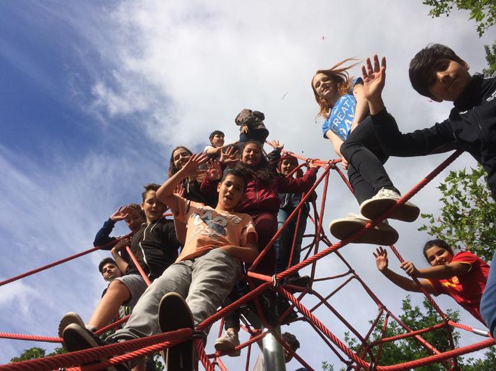 Klettergerüst Bauen : Hoch hinaus wir bauen ein klettergerüst aktionswoche wiesbaden