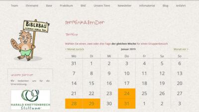 017 wea 2018 biberbau gruppenbuchung screenshot1