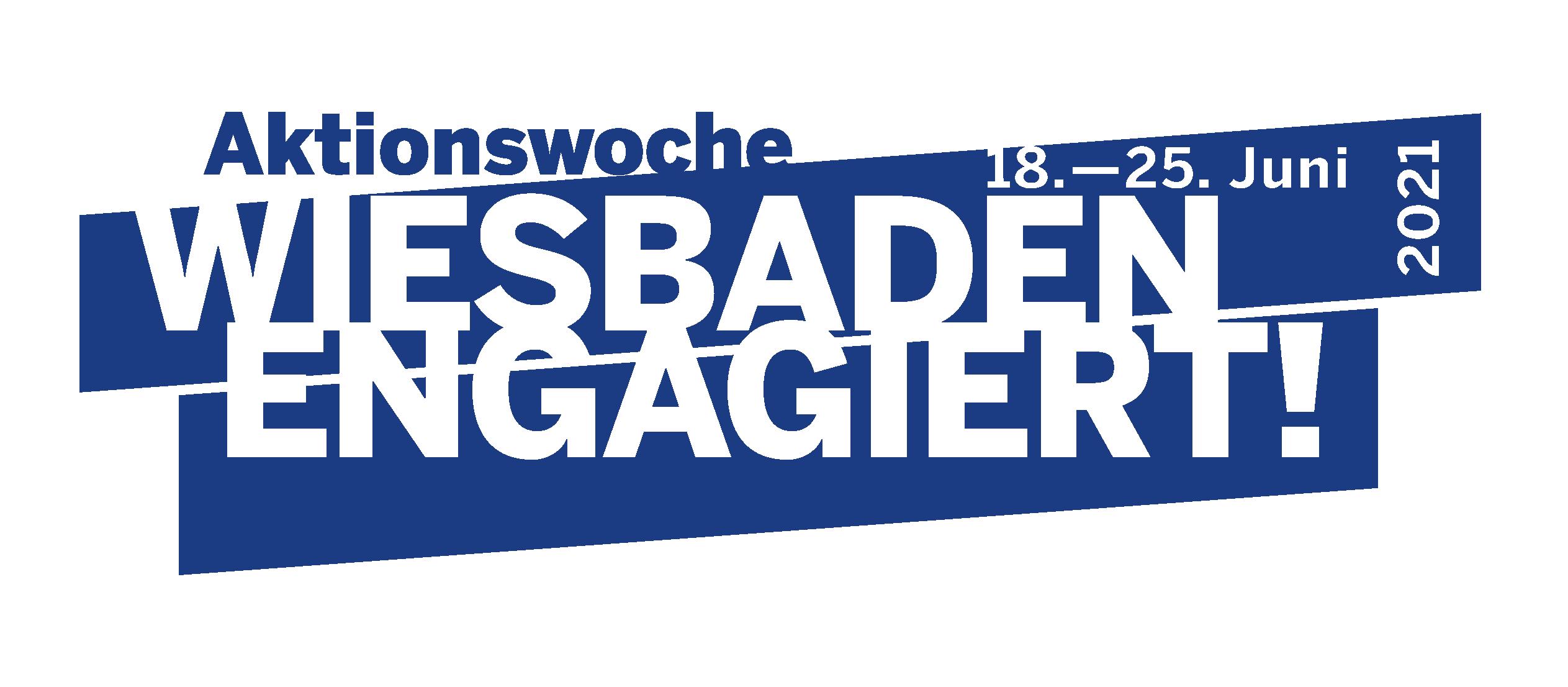 Logo Aktionswoche Wiesbaden Engagiert! 2021